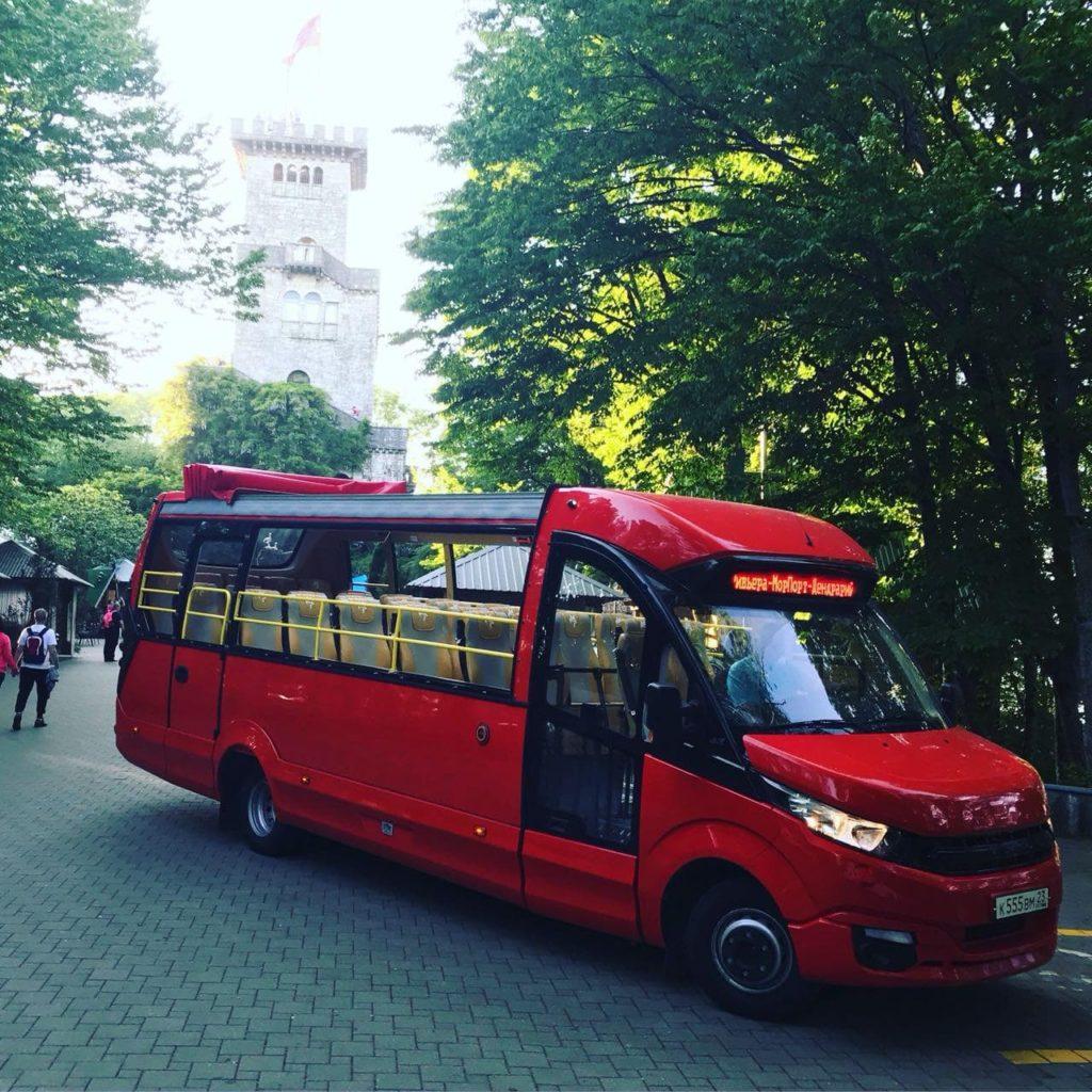 Автобус Матрёшка на Ахуне